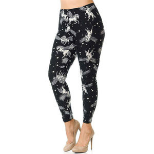 New Mix Buttery  Magical Pegasus Leggings Size 1X